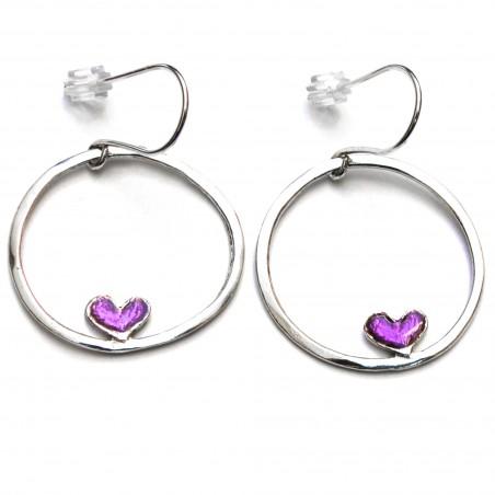 Valentine heart earrings. Sterling silver.  Valentine 67,00€