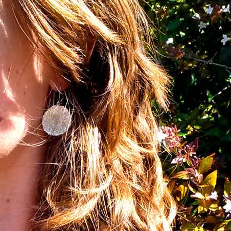 Superbes boucles d'oreilles Poussière d'Etoiles en argent massif  Poussière d'étoiles 95,00€