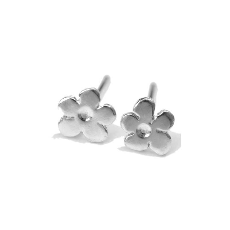 Petites boucles d'oreilles fleurs de Prunus en argent massif  Prunus 35,00€