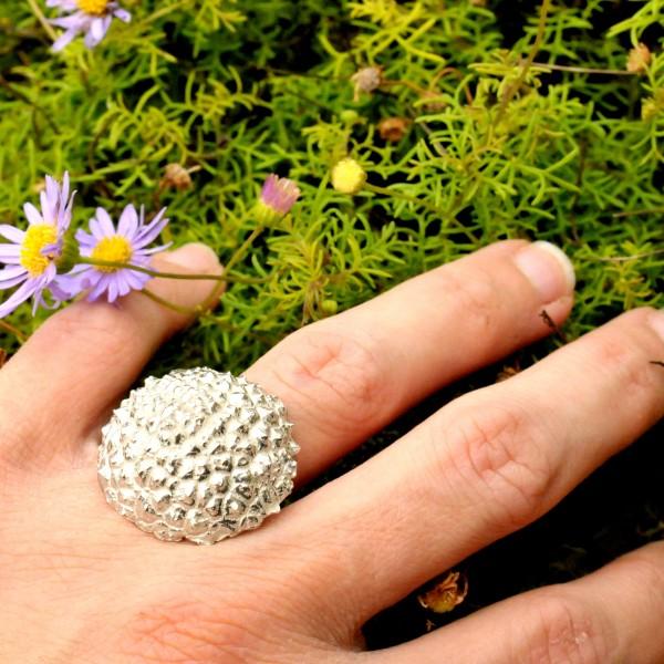 Wunderschöner Litchi Sterling Silber Ring Litchi 95,00€