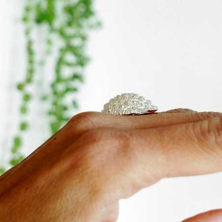 Beautiful Litchi adjustable sterling silver ring Litchi 95,00€