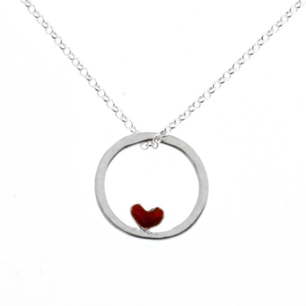 Petit collier coeur rouge Valentine en argent 925  Valentine 39,00€