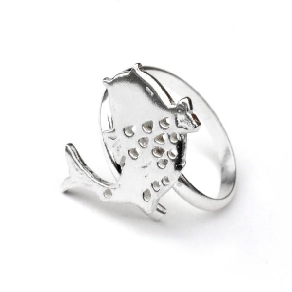 Sterling Silber Koï Karpfen verstellbarer Ring  Koi 67,00€