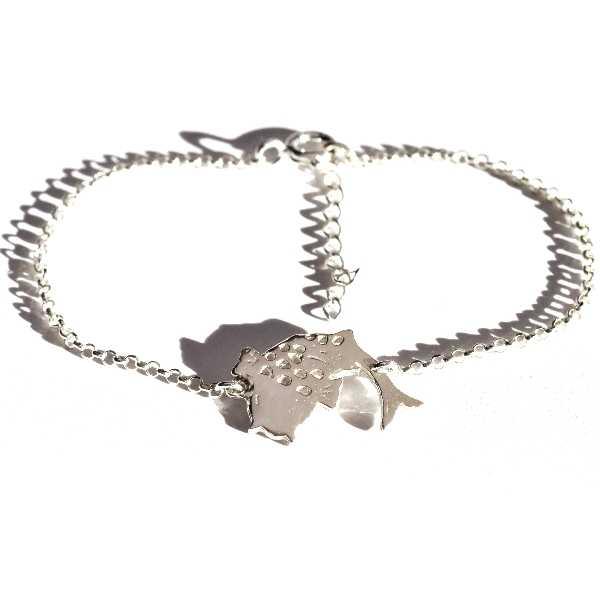 Koi Karpfen verstellbarer Sterling Silber Armband  Koi 69,00€