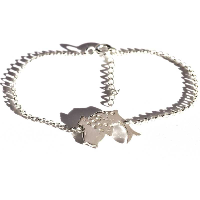 Petit bracelet carpe Koï réglable en argent massif 925/1000 Koi 69,00€