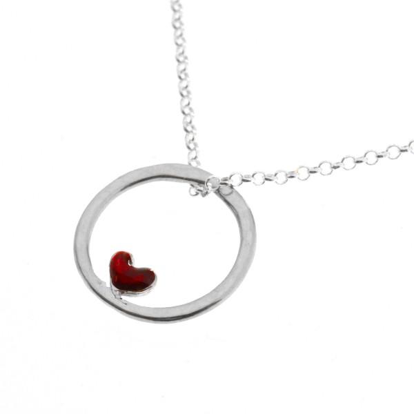 Collier en argent 925/1000 coeur rouge Valentine Desiree Schmidt Paris Valentine 39,00€