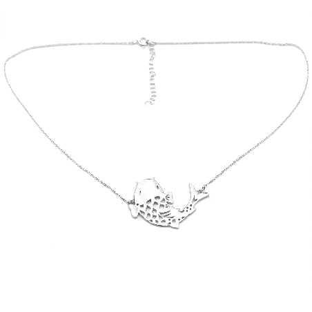 Superbe collier carpe Koï réglable en argent massif 925/1000  Koi 97,00€