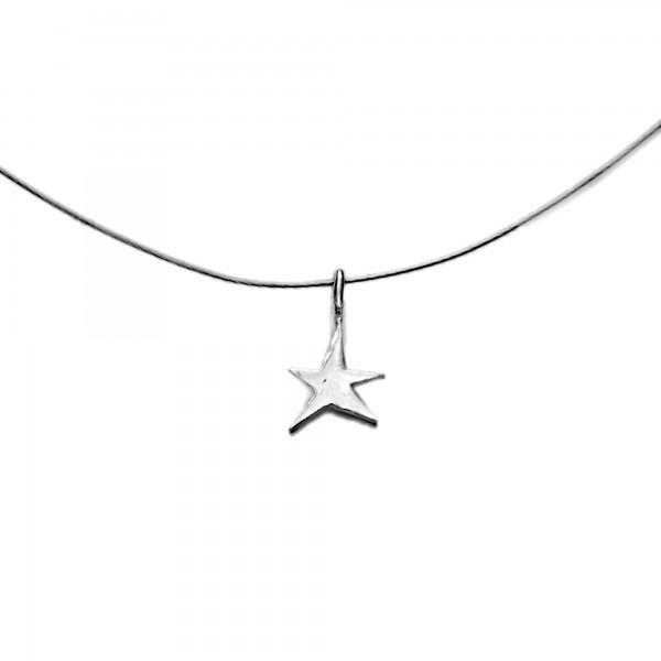 Petit pendentif minimaliste en argent 925/1000 étoile Sati sur fil cablé Desiree Schmidt Paris Sati 27,00€