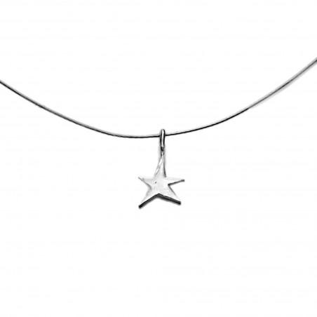 Petit pendentif minimaliste étoile Sati sur fil cablé Sati 27,00€