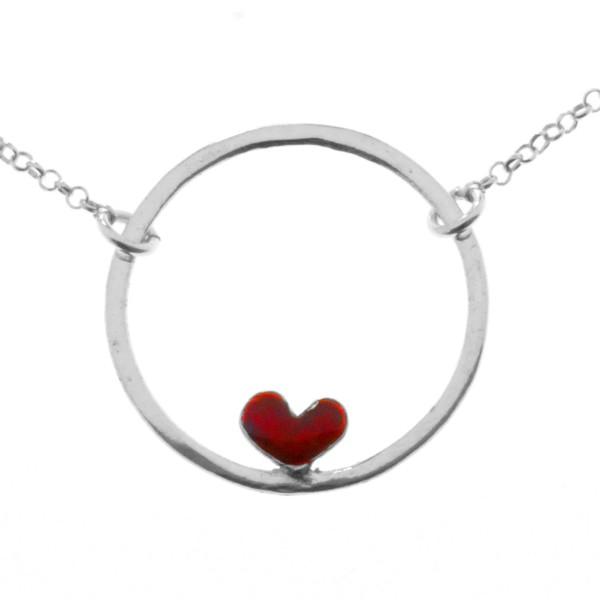 Collier coeur rouge Valentine en argent 925  Valentine 47,00€
