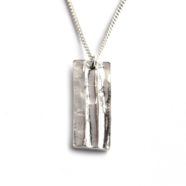 Collier rectangulaire en argent massif Bamboo petite série Unique pieces and limited editions 65,00 €
