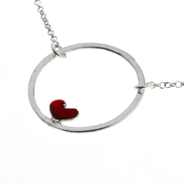 Collier coeur rouge Valentine en argent 925/1000 Desiree Schmidt Paris Valentine 47,00€