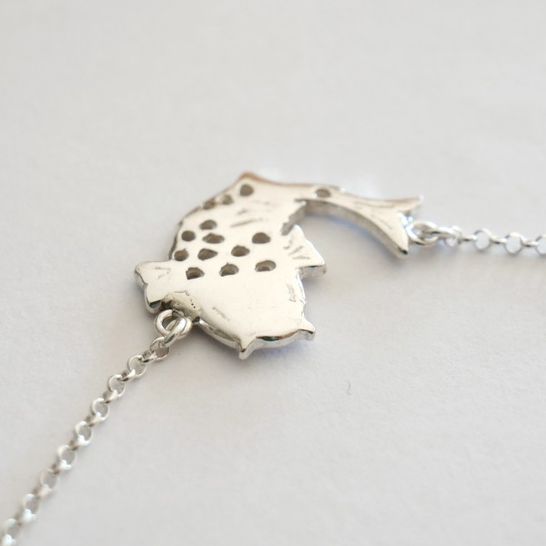 Hübsche Koï Karpfen Sterling Silber Halskette  Koi 67,00€