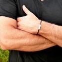 Grand bracelet rigide en argent massif Poussière d'Etoiles Poussière d'étoiles