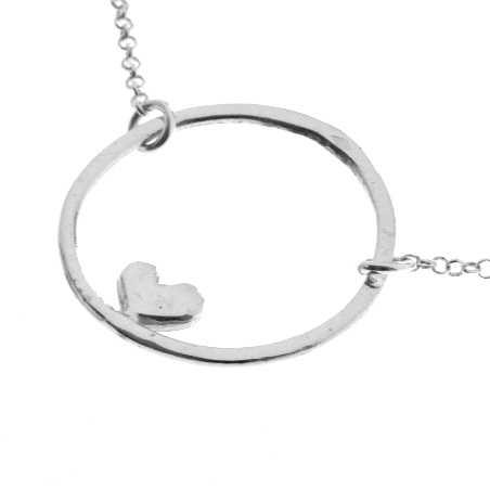 Valentine reversible heart necklace. Sterling silver. Desiree Schmidt Paris Valentine 47,00€