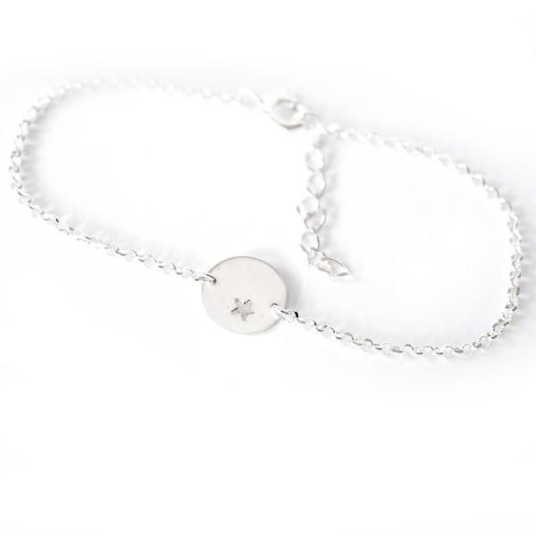 Kleiner Stern Sterlingsilber Armband  Armbände 29,00€