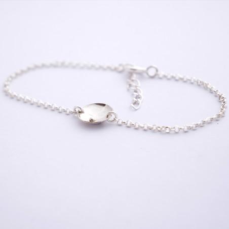 Sterling silver adjustable Shinju bracelet  Home 43,00€