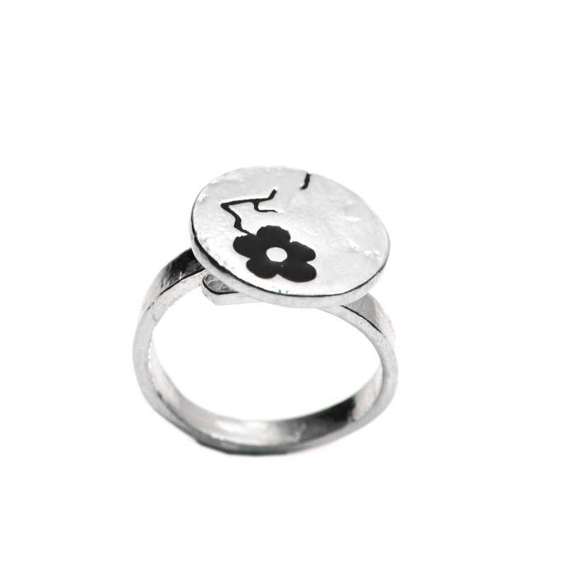Black Cherry Blossom adjustable sterling silver ring  Cherry Blossom 79,00€