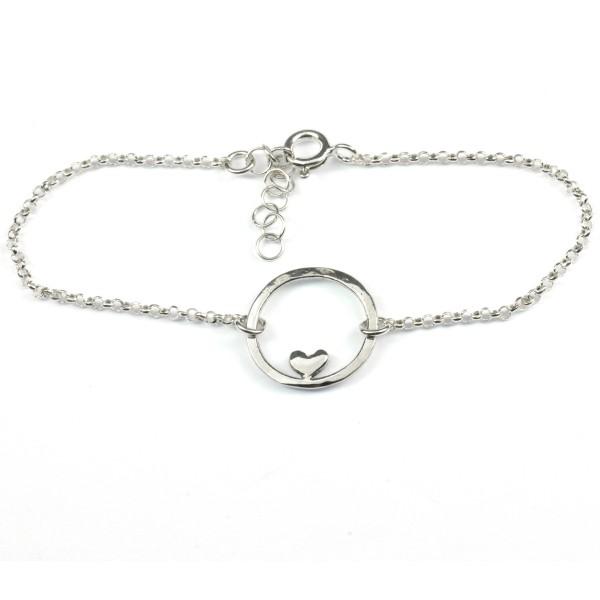 Small sterling silver Valentine red heart bracelet  Valentine 37,00€