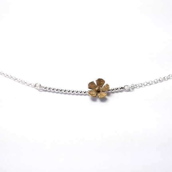 Litchi sterling silver long necklace