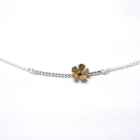 925/1000 and bronze silver cherry blossom pendant necklace made in France Desiree Schmidt Paris Sakura 47,00€
