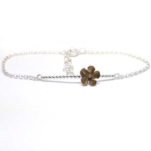 Bracelet Fleur Sakura en argent 925/1000 et bronze Sakura 39,00€