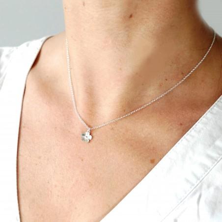 Sakura flower necklace in 925/1000 silver made in France Desiree Schmidt Paris Sakura 35,00€