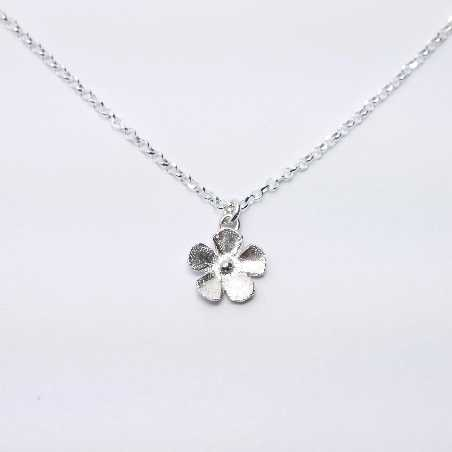 fine Sakura flower necklace in sterling silver 925 made in France Desiree Schmidt Paris Sakura 35,00€