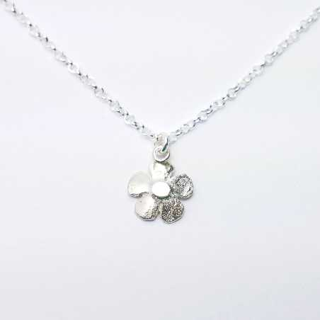 sakura pendant on 925 silver chain made in France Desiree Schmidt Paris Sakura 35,00€