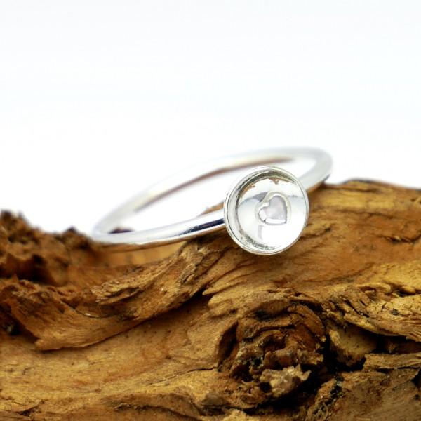 Minimalistischer kleiner Hertz Sterling Silber Ring MIN 23,00€