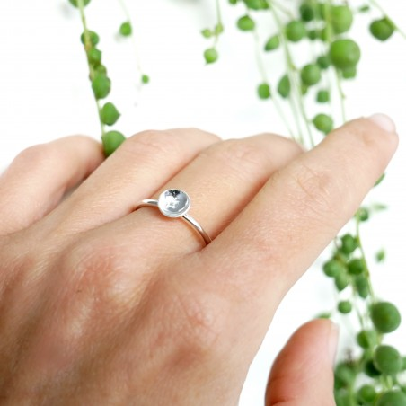 Minimalistischer kleiner Stern Sterling Silber Ring MIN 23,00€