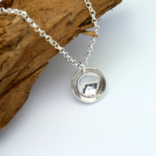 Sterling silver minimalist necklace with star MIN 27,00€