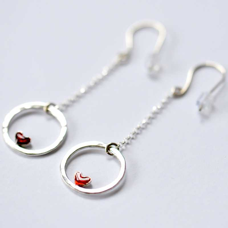 Valentine pendant earrings. Sterling silver. Earrings on sale 57,00 €