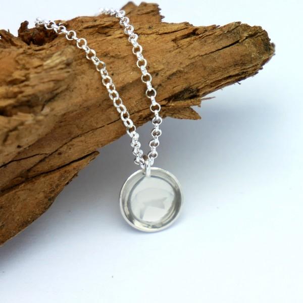Minimalistische kleine Sterling Silber Halskette MIN 27,00€