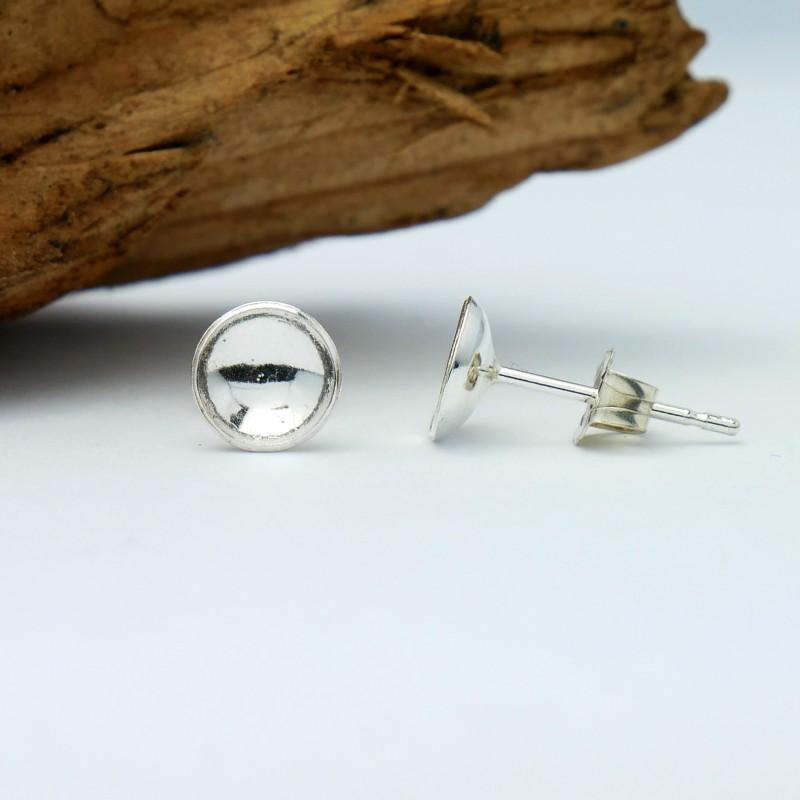 Petites boucles d'oreille puce minimaliste en argent 925 MIN 25,00€