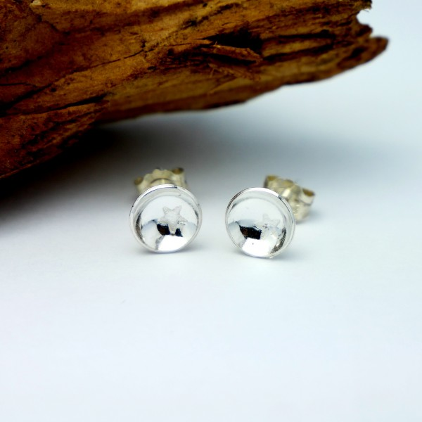 Minimalistische kleine Sterling Silber Stern Ohrringe MIN 25,00€
