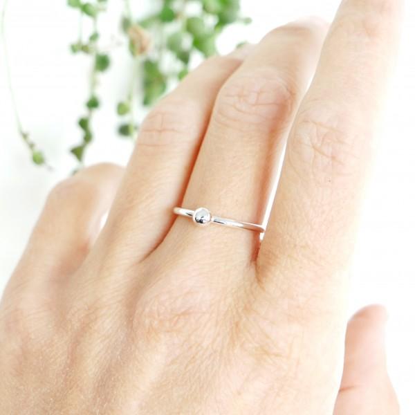 Kleines Minimalitisches sterling Silber Ring Nuggets 25,00€