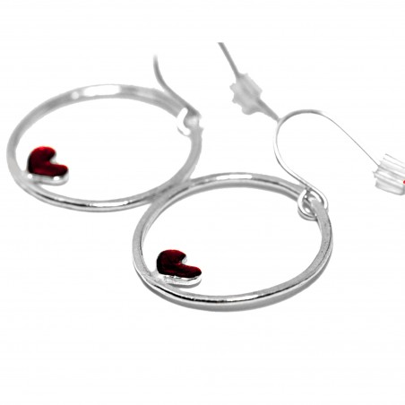 Valentine red heart earrings. Sterling silver.  Valentine 67,00 €