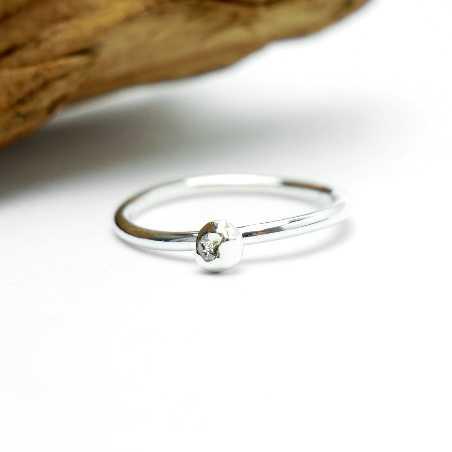 Gr.50 - Kleines Minimalitisches sterling Silber Ring Größe 50  Nuggets 27,00€