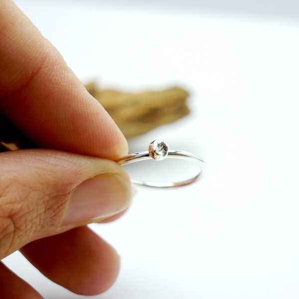 S.50 - Little sterling silver Nugget ring Size 50 ( US5 1/4) Nuggets 27,00€