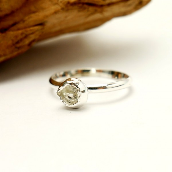 Gr.50 - Minimalitisches Kokon sterling Silber Ring Größe 50 Nuggets 35,00€