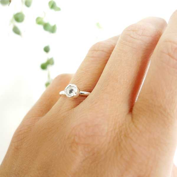 S.50 - Sterling silver Cocoon Nugget ring Size 50 (US 5)  Nuggets 35,00€