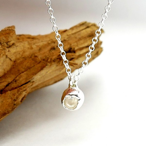 Sterling silver necklace with Nugget pendant Necklaces 27,00€