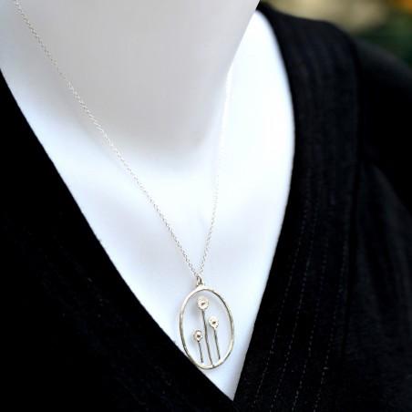 Winter Garden reversible necklace. Sterling silver. Desiree Schmidt Paris Winter Garden 77,00€