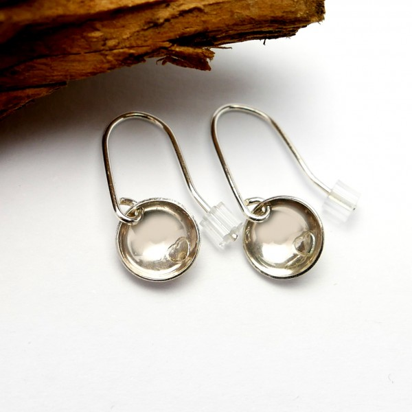 Boucles d'oreille coeur pendente minimaliste en argent 925  Boucles d'oreilles 30,00€