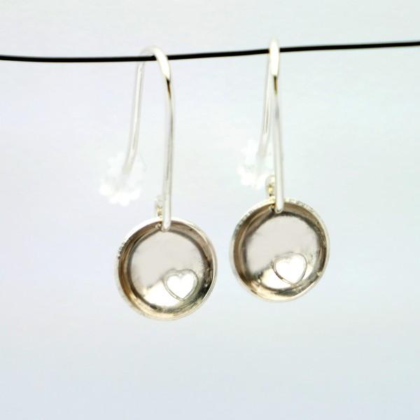 Minimalistische Hertz Sterling Silber Ohrringe Ohrringe 30,00€