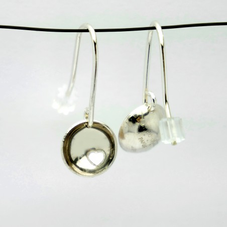 Sterling silver heart minimalist pendent earrings Earrings 30,00€