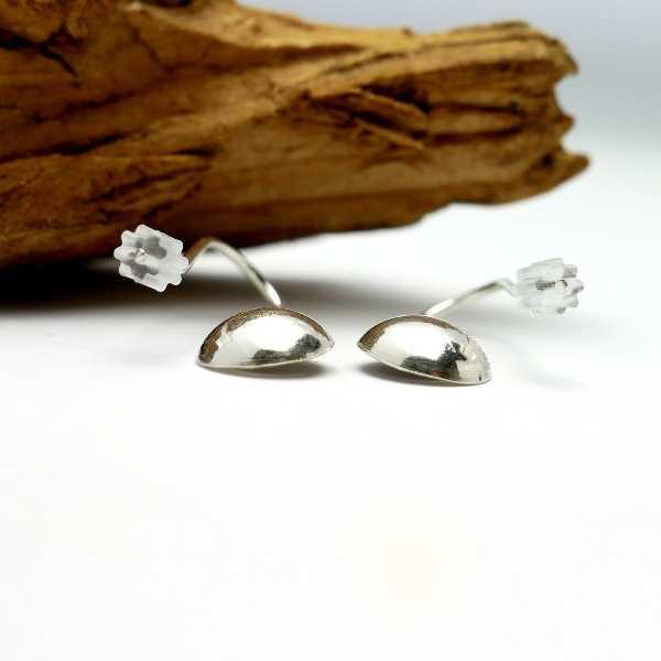 Sterling silver star minimalist pendent earrings  Earrings 30,00€