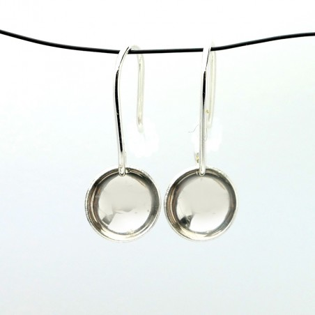 Sterling silver minimalist pendent earrings  MIN 30,00€