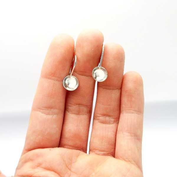 Lange Rote Kirschblumen Ohrringe. Sterling Silver. Kirschblumen